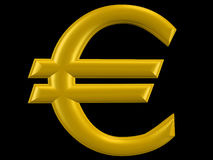 3D euro sign Royalty Free Stock Image