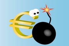3D euro sign Stock Photo