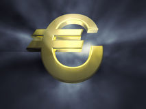 3d euro sign Stock Photo
