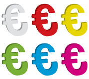 3d euro signs. Illustration Royalty Free Stock Photo