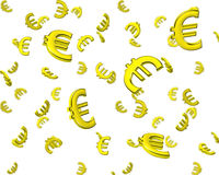 3d euro symbol wallpaper Royalty Free Stock Photography