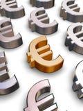 3D Euro symbolen Stock Afbeelding