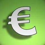 3d Euro symbool royalty-vrije illustratie