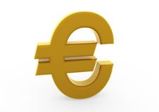 3d euro symboolgoud Stock Foto