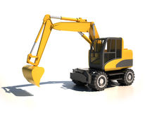 3d excavator. Excavator 3d illustration isolated on the white background Royalty Free Stock Photography