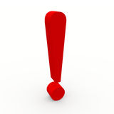 3d exclamation point Royalty Free Stock Images