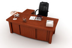 3d executive desk Stock Photo