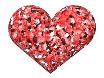 3D exhausted love heart Stock Images