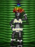 3D exotisch meisje Stock Afbeelding