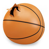3d exploded basket  ball Royalty Free Stock Photo