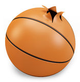 3d exploded basket  ball. 3d exploded basket ball on a white background Royalty Free Stock Photo