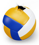 3d exploded volley ball Stock Images