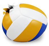 3d exploded volley ball Stock Image