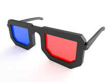 3d eyeglasses Royalty Free Stock Image