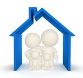 3D family house Stock Image