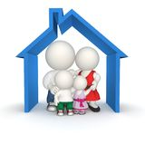 3D family house Royalty Free Stock Photography