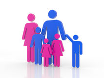 3D a family symbol Royalty Free Stock Photography