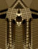 3d fantasie gouden tempel Stock Afbeeldingen