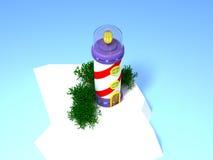 3d fantastyczna latarnia morska Obrazy Stock