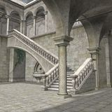 3D Fantasy Building Royalty Free Stock Image