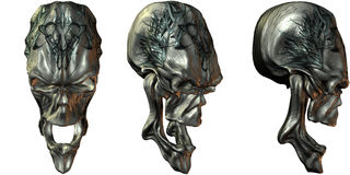3D Fantasy Skulls Stock Images