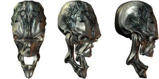 3D Fantasy Skulls Stock Images