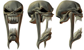 3D Fantasy Skulls Royalty Free Stock Photos