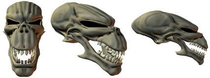 3D Fantasy Skulls Royalty Free Stock Images