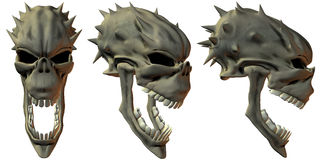 3D Fantasy Skulls Royalty Free Stock Photo