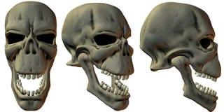 3D Fantasy Skulls Stock Photos