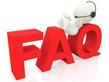 3D FAQ Royalty Free Stock Photography