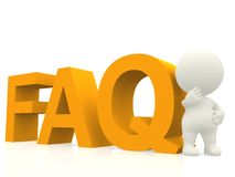 3D FAQ Stock Photo