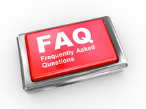 3d faq button Royalty Free Stock Photos