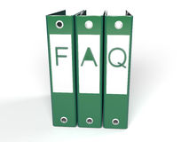 3d faq green folders Royalty Free Stock Images