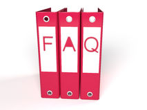 3d faq red folders Stock Photos