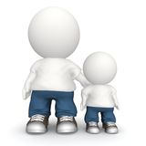 3D father and son Royalty Free Stock Photography