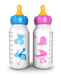 3d feeding bottles Stock Image