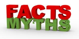 3d feiten over mythen Royalty-vrije Stock Afbeeldingen