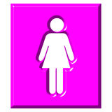 3D Female Sign. Isolated in white Stock Images