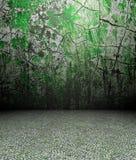 3d fende la parete e la pavimentazione Fotografia Stock Libera da Diritti