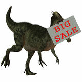 3D Figure With Sale Sign Royalty Free Stock Images