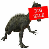 3D Figure With Sale Sign Royalty Free Stock Image