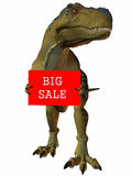 3D Figure With Sale Sign. 3D Render of an Figure with Sale Sign Royalty Free Stock Photography