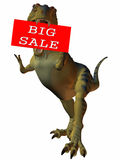 3D Figure With Sale Sign Stock Photography