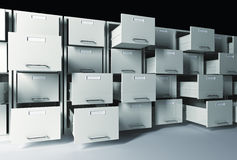 3d file cabinet Stock Photo