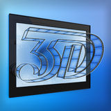 3d film Royalty Free Stock Images