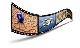 3D film. 35mm 3d show the film and the drought Stock Photography