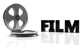 3d film. With reel roll Stock Image