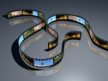 3d film positve film strip Royalty Free Stock Images