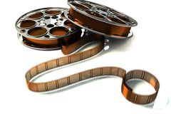 3d Film Reel. Image of film reel rendered in 3d against white background stock illustration
